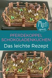Pferdekoppel Chocolate cake: the simple recipe – how it works! 🐎 #children's …   – Backen mit Kindern für Kinder