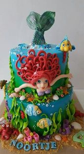 Tortas de princesas de Disney con Ariel Natación – Tortenträume ❤️ Cakesdr …
