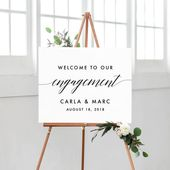 Printable Engagement signs, Engagement party decorations, Welcome Engagement Signs Decoration, Welcome to the Engagement Banner
