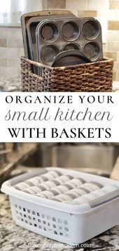 How To Use Baskets To Organize Your Small Kitchen – Through My Front Porch