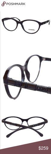 CHANEL Black Sparkle Eyeglasses BlacK Crystals Chanel Black Sparkle Frame with B… – My Posh Closet