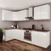 Zestaw Mebli Kuchennych Aspen W Wersji Bialo Debowej Leroy Merlin Kitchen Cabinets Home Decor Home