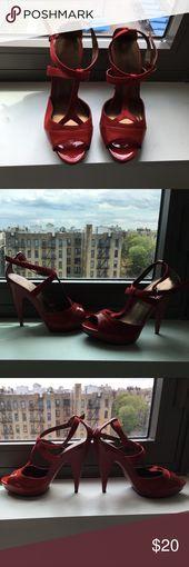 Rote High Heels Rote Riemchen High Heels von Kelly und Katie – Leder und Stoff …