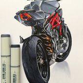 #mvagusta #brutale #sketch #italianart #italian #motorcycle #copic #marker #draw…