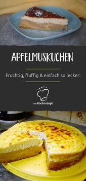 bolo de compota de maçã   – Kuchen und Torten