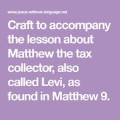 Matthew Matthew 9 Object Lessons Language School Attendance