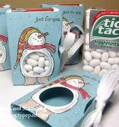 Tic Tac Schneemänner Geschenk / / Hóemberes ajándék Tic-Tacból / / Mindy – kreative c … – karácsony