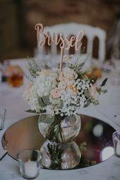 Centre de table mariage   Nos centres de table sur le thème du voyage et thème…