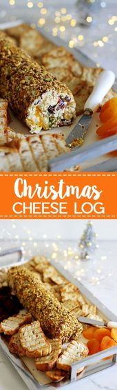 Christmas cheese log – the perfect quick, easy & delicious Christmas appetizer t…