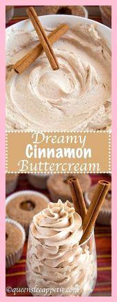 Nuevo pastel fácil: glaseado de crema de mantequilla de canela de ensueño, #crema de mantequilla # canela #dreamy #frosti …   – cupcake / decorating