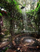 45 Atemberaubende Outdoor-Duschen, die Sie gestärkt werden