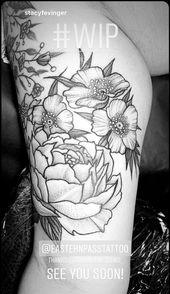 Peony / Cherokee rose half sleeve