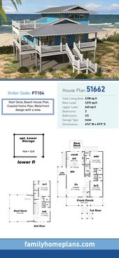 Southern Style House Plan 51662 with 3 Bed, 4 Bath   – Архитектура