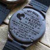 Engraved Wooden Watch – Great Gift For Your Husband – Perfect Gifts For Husband