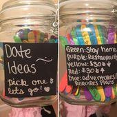 Valentinstag Geschenkideen PinWire: 125 farbige Eis am Stiel-5 $. Einmachglas- $ 4 ….   – Selbstgemachte geschenke für den partner