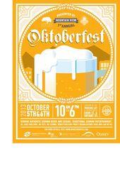 Steins Beer Garden Oktoberfest Poster von Michelle Min, via Behance:  – Oktoberf… – Oktoberfest