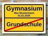 Ortsschild Grundschule Gymnasium * Die unvergessliche Grundschulzeit geht zu End…
