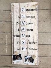 ZUHAUSE Vintage, Spruchtextschild, Sprüche, Holzs…