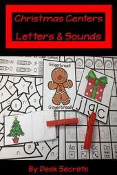 Weihnachten zentriert Buchstaben und Töne – December Classroom Ideas