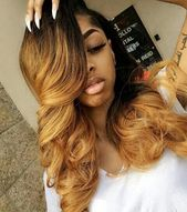 Ombre blond human hair wig