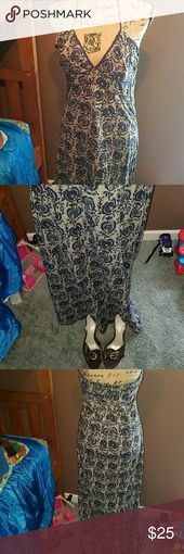 Mossimo trägerloses Kleid mit Design, das im Rücken gebunden wird und einen Reißverschlus …