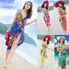 Details about Beach Shawl Deep V Wrap Bikini Beach Dress Cover Up Sarong Chiffon Swimwear