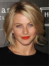 Kurze Natur gerade Seite gefegt Fransen Lace Front Echthaar Perücke 10 Zoll   – Hair styles