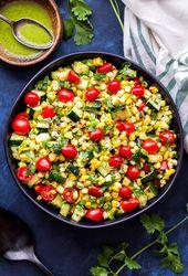 Grilled Zucchini Corn Tomato Salad – Recipe Runner