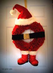 Photo of 50 DIY Santa Christmas Decoration IdeasSanta Claus ist die berühmteste …