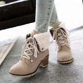 New Girls White Spherical Toe Chunky Steel Ornament Lace Vogue Ankle Boots Purchase W…