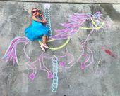 Our Chalk World, sidewalk art, chalk art, Lucy's Chalk World, kids crafts, creat…  – Personal Blog