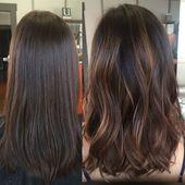 Bildergebnis für braunes Haar mit schokoladenbraunem Haar und weichem Balayage