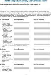 Landlord Inventory Template Unfurnished  Landlord Inventory
