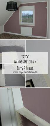 DIY Wände richtig streichen mit Tipps, Tricks und Fehlern + Anleitung