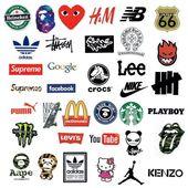 "35 PCS ""Big Brand Logos"" Waterproof Stickers – #Big #brand #country #Logos #PCS"