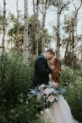 Katie Griff Photo: Wildflower First Look  mountain engagements, utah engagements…   – Wedding Dress Inspiration