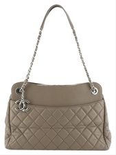 CHANEL | 7 Quilted Large Neutral Lambskin Leather Tote