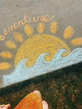 summer chalk fun!  straßenkreide   – süße Ideen