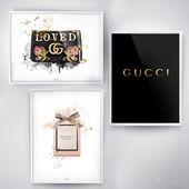 3 x poster set, Gucci Art Print, Gucci Poster, Gucci Wall Art, Fashion Prints, Gucci Bag, Gucci inspired, Gucci Logo, Gucci scarf