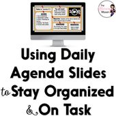 The Literary Maven: Using Daily Agenda Slides to Stay Organized & On Task