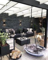 schöne gemütliche Überdachung für den Garten