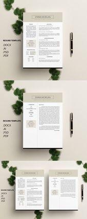 Illustrator Resume Latte CV / Resume Template / M. Perfect Resume