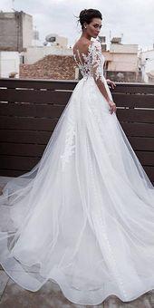 NEU! Marvelous Tüll & Organza Jewel Ausschnitt 1 in 2 Brautkleider mit Spitze A – #amp #ausschnitt #brautkleider #jewel #marvelous – Brautkleider Spitze