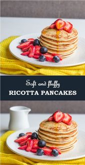Soft and Fluffy Ricotta Pancakes   – Pancake and Waffle Recipes