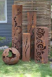 Colonnes décoratives en métal pour le jardin