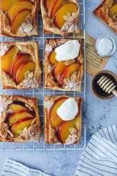 kleine pfirsich mandel tartes