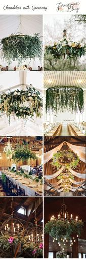 Greenery Wedding ceremony Ornament: 20 Hanging Chandeliers Concepts for Your Huge Day
