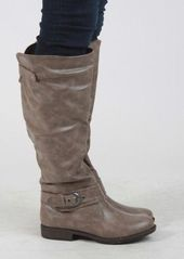 Classic Riding Boot With Side Buckle #riding #boot #buckle #taupe #shoes #kieus  – Fall Fashion Trends