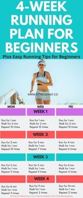 4 Wochen Laufplan für Anfänger plus 8 einfache L…