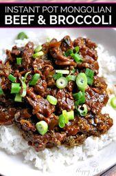 Instant Pot Mongolian Beef & Broccoli